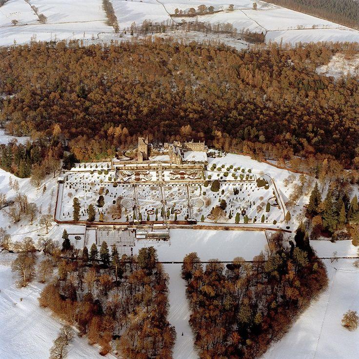 Drummond Castle Scotland in winter