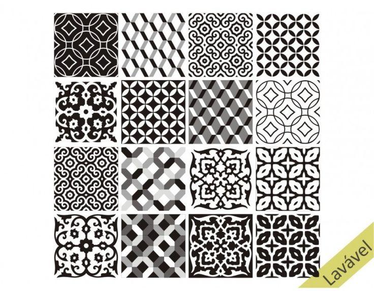 25+ melhores ideias sobre Piso preto e branco no Pinterest  Tectos em madeir -> Decoracao De Banheiro Com Revestimento Preto E Branco