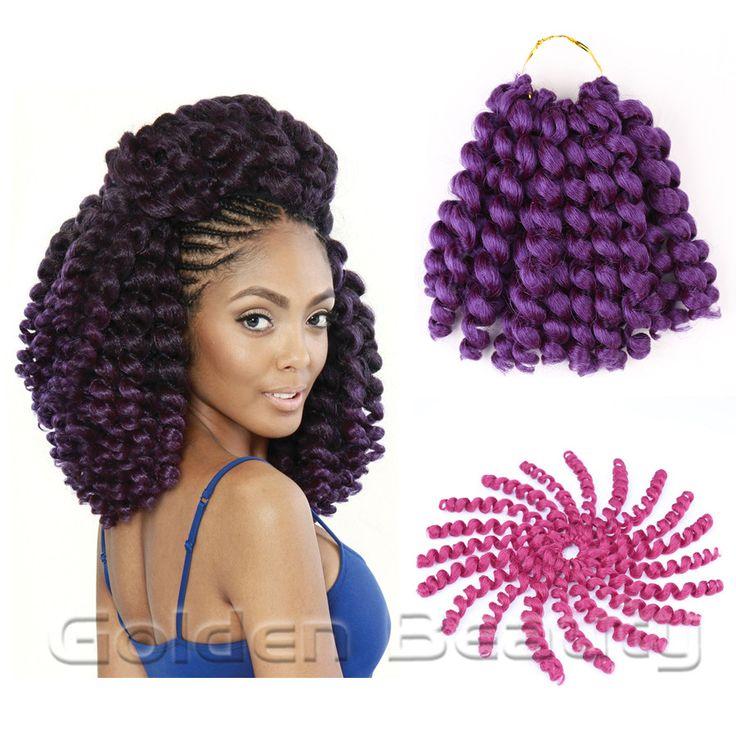 8-10 pouce jumpy baguette curl Crochet Tresses Extensions De Cheveux de Crochet jamaïcain havana mambo twist tressage cheveux