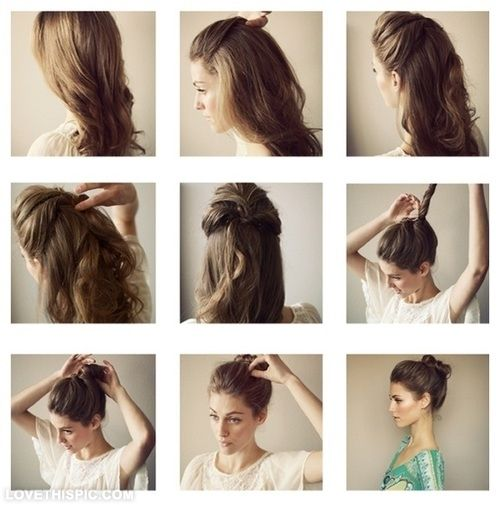 20 best hair images on pinterest cute hairstyles hairstyle diy locked hair bun diy diy crafts do it yourself diy hair bun diy tips diy solutioingenieria Image collections