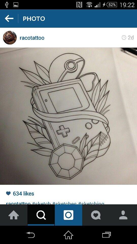 Gameboy pokemon  Tattoo