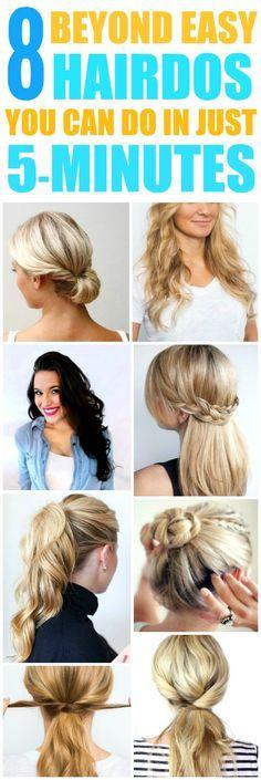 25 Trending 5 Minute Hairstyles Ideas On Pinterest