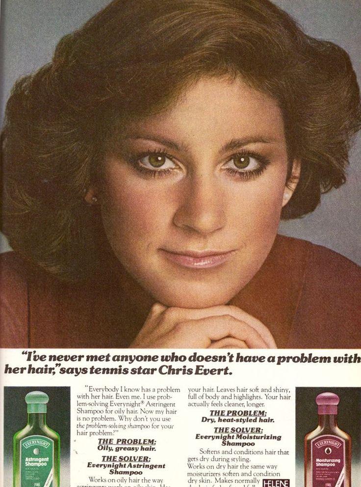 1978 Chris Evert Everynight Shampoo Print Advertisement Retro AD Vintage VTG 70s | eBay