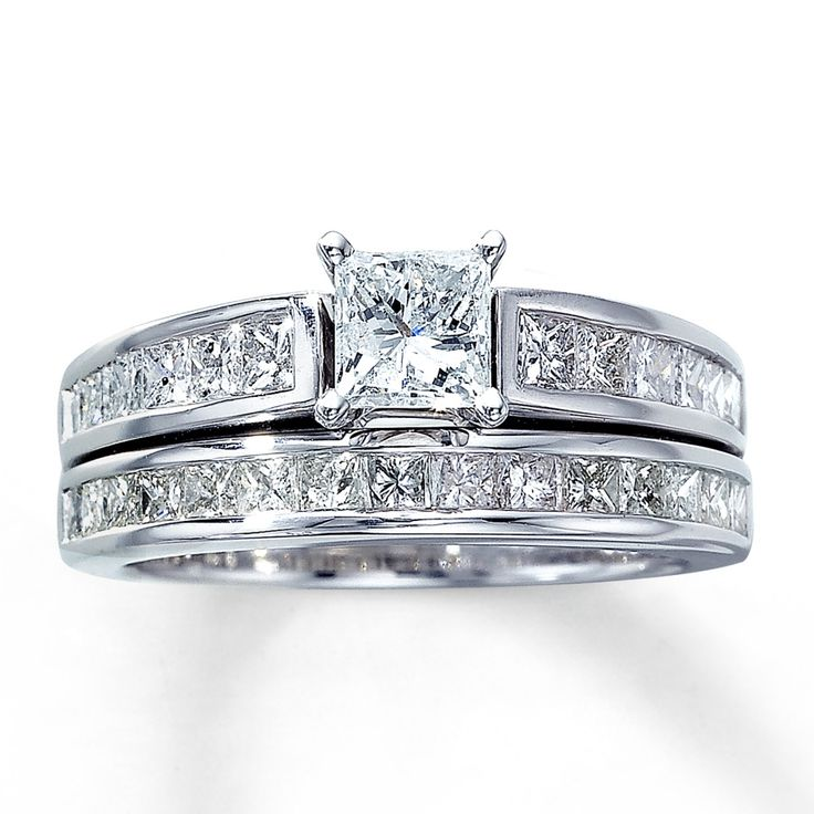 Princess Cut Diamond Wedding Rings Sets