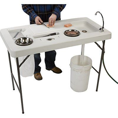 These are the best portable fish cleaning tables based on customer comments and ratings. These fish cleaning tables are portable so that you can take them with you when you go camping, fishing, on vacation and you can fold them up and store them easily at home.
