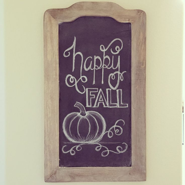 Fall Chalkboard Art - mint and honey design #chalkboardart #thanksgivingchalkboardart #worldmarket