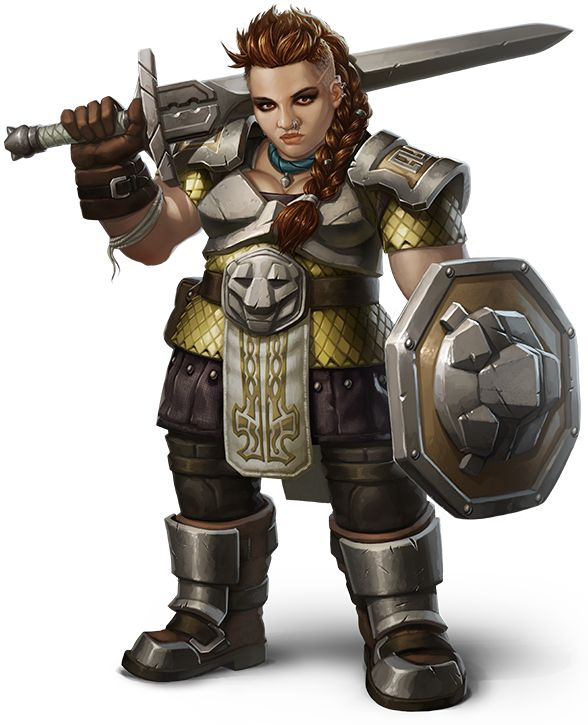 female dwarf warrior, RPG, D&D, DnD, fantasy character, concept art, great…