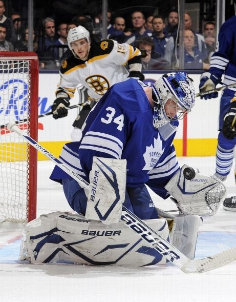 Boston Bruins vs. Toronto Maple Leafs - Photos - February 02, 2013 - ESPN FIRST STAR: #34 James Reimer, Maple Leafs