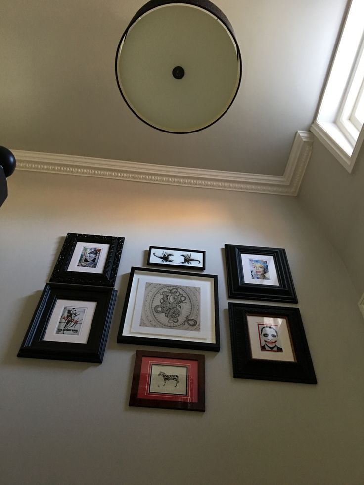 #artwork #display on #stairwell by www.thebrownhouseinteriors.com
