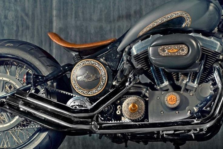 Индийские кастомайзеры «Rajputana Custom Motorcycles» хорошенько отточили мастерство переделывая мотоциклы Royal Enfield и теперь принялись за более серьёзные проекты, начав с 1200-кубового байка Harley-Davidson 48. Индийцы назвали байк «Rajmata». Они уделили большое вниманию мелким деталям дизайна, использовав декоративно-прикладное искусство — своего рода узоры на баке, крышках и т.д. Благодаря новой задней покрышке, новому седлу и переделанной вилке спрингер байк стал более агрессивным.