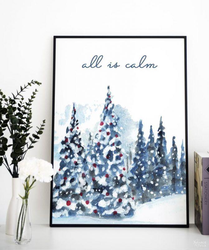 Beautiful Free Watercolor Christmas Printables The Navage Patch Christmas Wall Art Printables Christmas Watercolor Christmas Prints