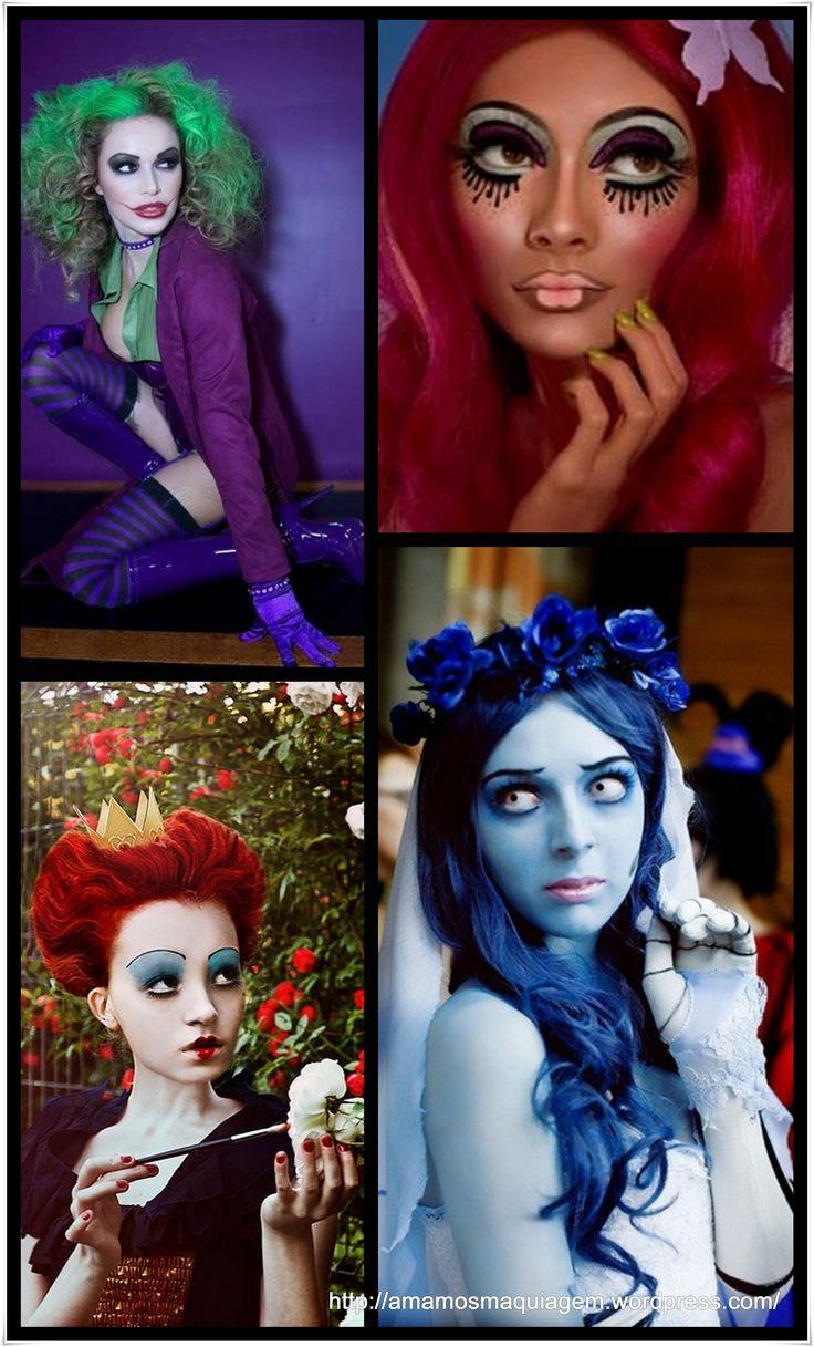 maquiagem Halloween - make up Halloween of famous girls Love it