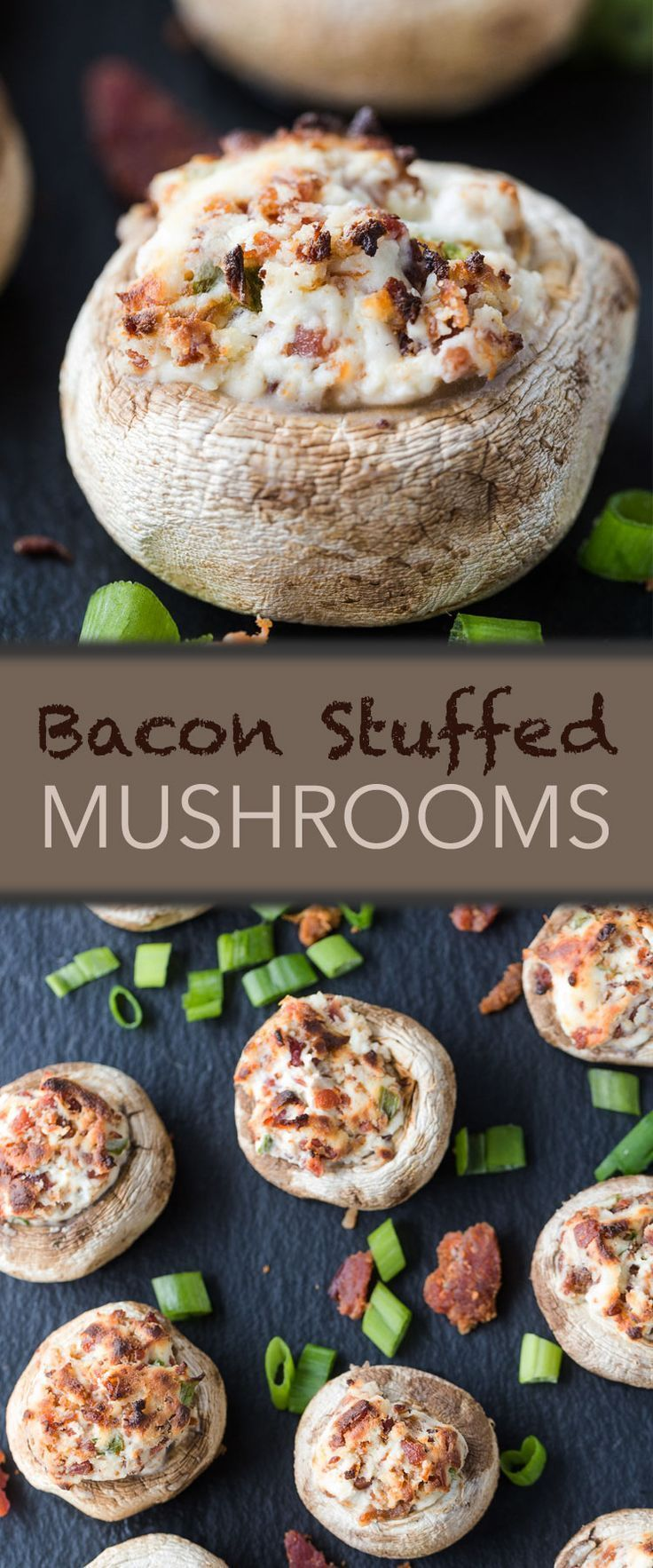 Bacon Stuffed Mushrooms Appetizer Recipe
