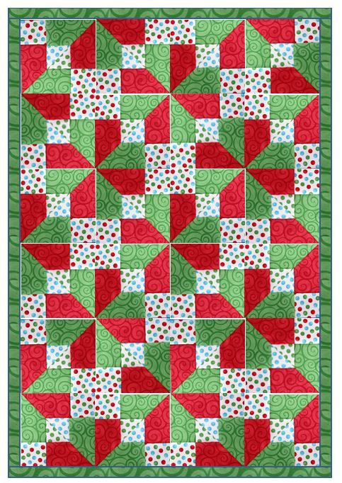 This is an extension of the split 9 patch or disappearing 9 patch...it's amazing how creative quilters are at trying new ways to use things we already know!!!