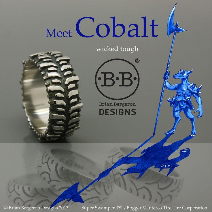 Brian Bergeron Designs Super Swamper Tsl Bogger Tire Ring In Cobalt Chrome