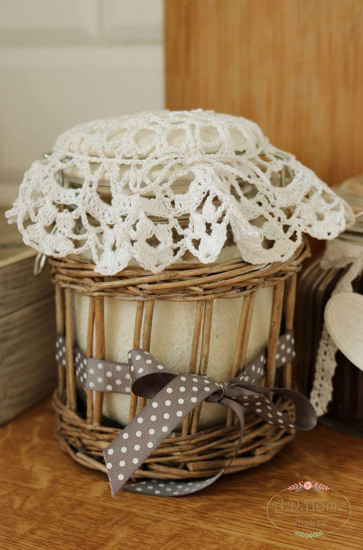 serwetki szydełkowe, na słoiki, dekoracja, crochet, hand made, rękodzieło, Pracownia A.D.Home