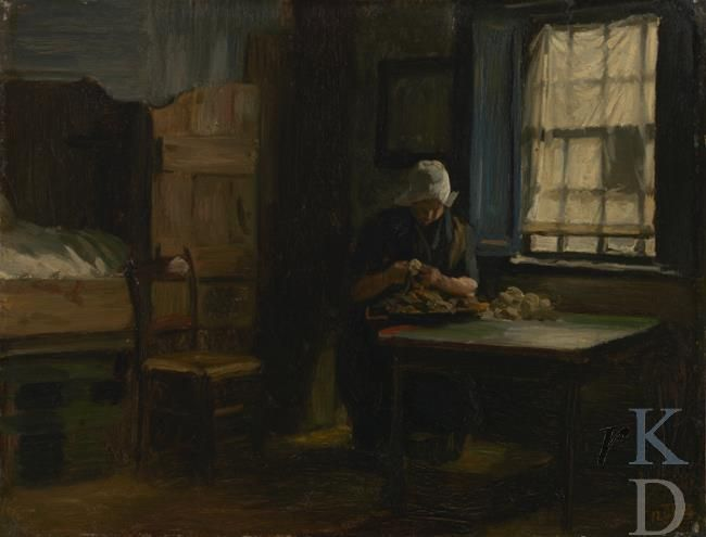 Philip sad e interieur met boerin 1874 den haag de for Loft interieur den haag
