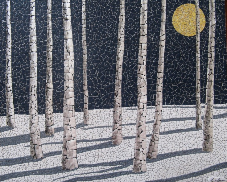 Winter Birches - by Linda Biggers