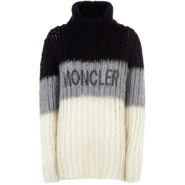 Moncler Chunky Knit Turtleneck Sweater ($1,205) ❤ liked on Polyvore featuring tops, sweaters