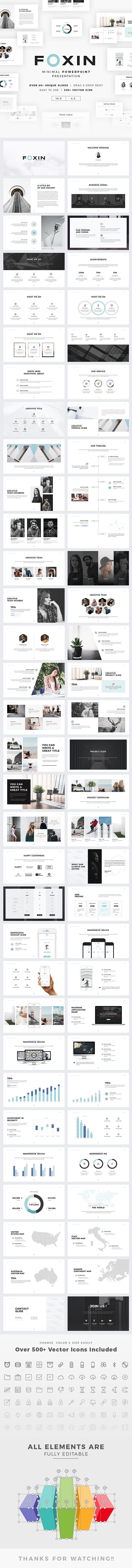 Foxin Powerpoint — Powerpoint PPTX #portfolio #presentation • Available here ➝ https://graphicriver.net/item/foxin-powerpoint/20854452?ref=pxcr