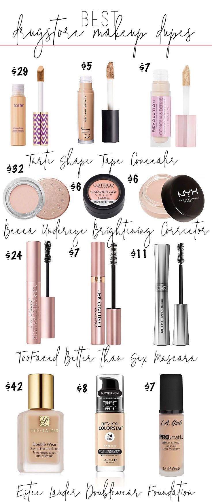 Best Makeup Dupes From the Drugstore • Drugstore Makeup Dupes