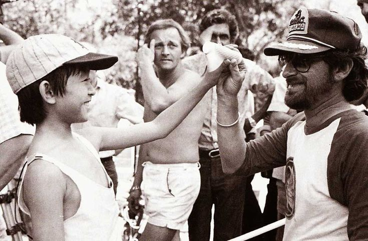 Steven Spielberg and Jonathan Ke Quan on the set of 'Indiana Jones and the Temple of Doom' - Lets Open The Family Album  Best of Web Shrine