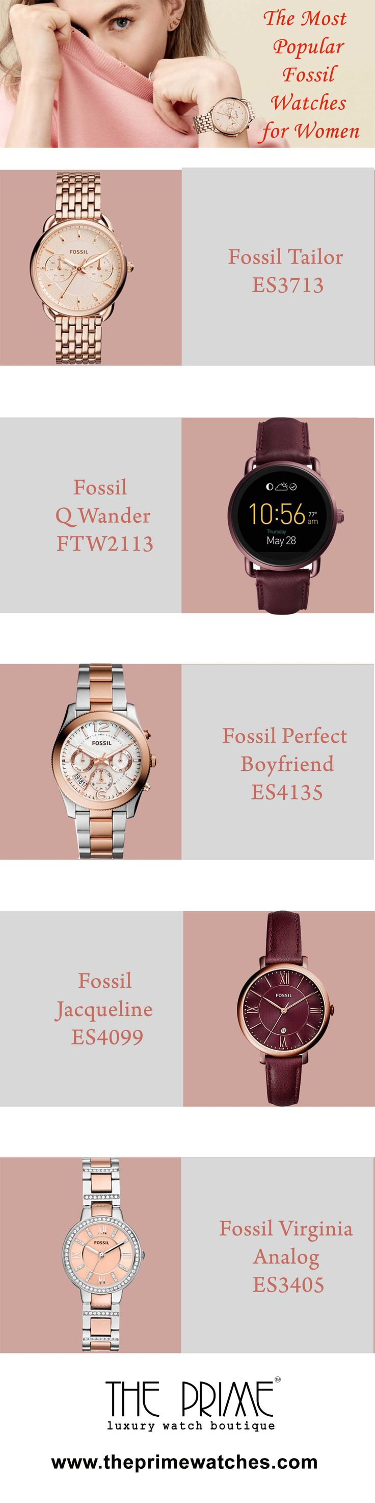 Women are glamorous and delicate, so they wear watches that complement their style and temperaments. Fossil is a brand that makes watches both for men and women. Their women's watches can easily tempt the ladies with their lucrative appearances.  Fossil, one of the fashion watch making brand keeps in mind the demand of a wearer so that they can fulfil their needs. Here you will get to see some Fossil watches for that has become widely popular.