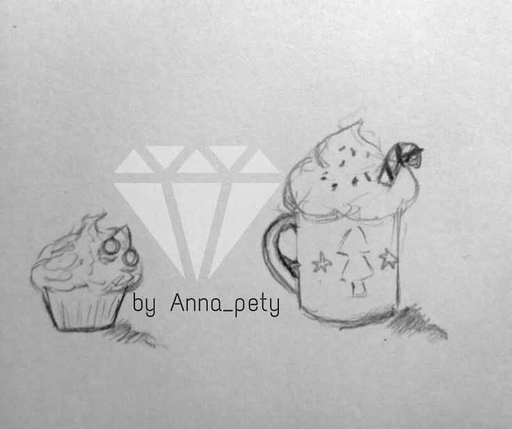 #cupcakes #coffee #art #pencil