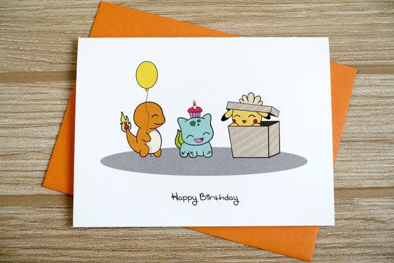 Happy Birthday Surprise Card Pokemon Party Pokemon