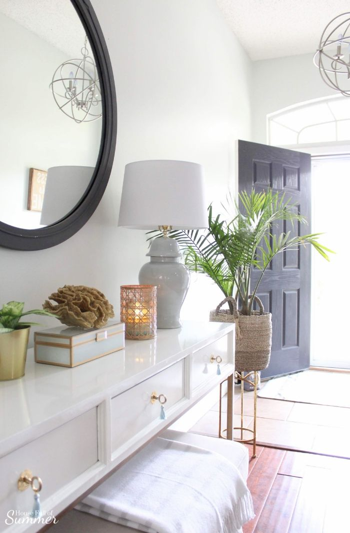 Serene Coastal Chic Foyer Refresh Coastal Decor Coastal Bedrooms