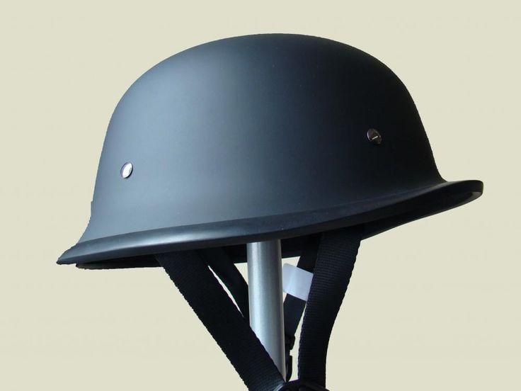 Plus petit casque de moto légal (DOT) style Allemand, noir mat ...