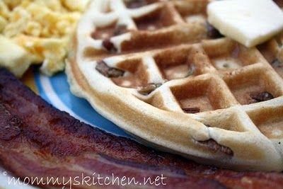 Mommy's Kitchen -Copy Cat Waffle House Toasted Pecan Waffles #breakfast #wafflehouse