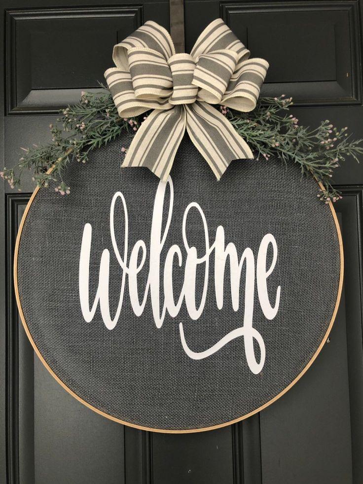 Wreaths for front door, Fall Wreaths for Front Door, Hoop Wreath, Wreath for Front Door, Spring Wreath, Door Decor
