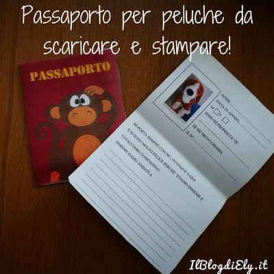 Passaporto per peluche da scaricare e stampare per viaggiare con l'amico del cuore!