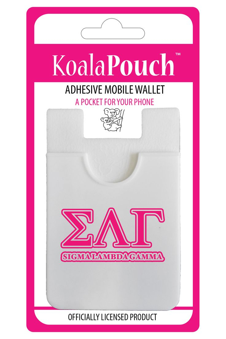 Sigma Lambda Gamma Koala Pouch Adhesive wallet for your phone