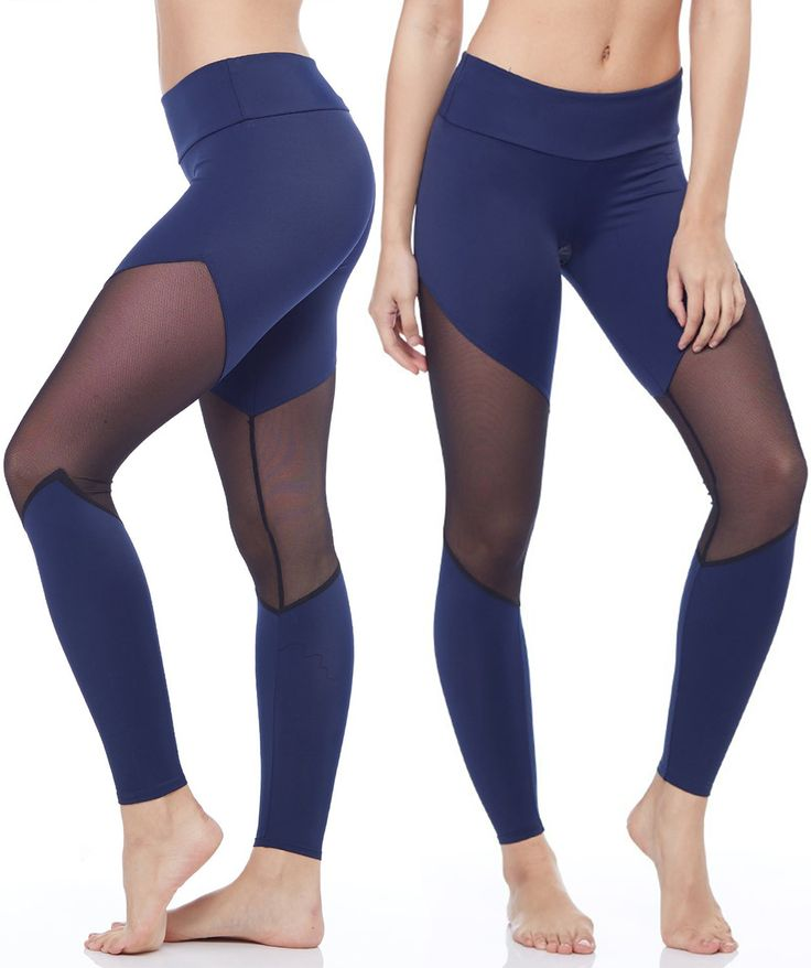 Look sexy during your workout with these favorite navy track legging from Onzie! #tracklegging #mesh #evolvefitwear