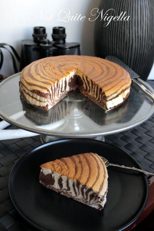 Zebra cheesecake met chocolade
