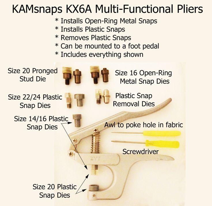 Allinone KAM snap pliers install plastic & metal snaps