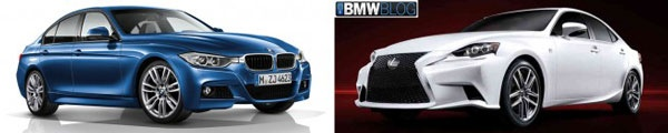 BMW Series 3 F30 M-Sport vs Lexus IS F-Sport 2014