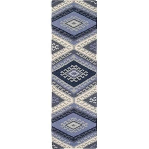 Surya WRR2000-268 Wanderer 3' x 8' Runner Wool Hand Woven Southwestern Area Rug - Blue