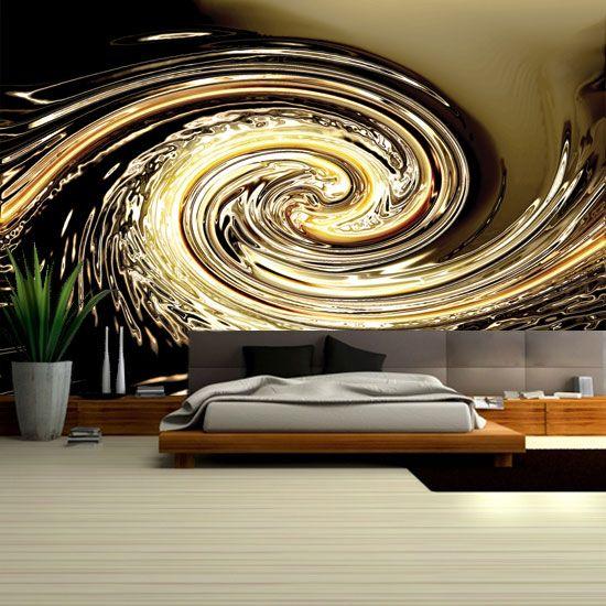 Fototapeta z dynamiczną spiralą - dekoracja wprowadzająca ożywienie do pokoju.