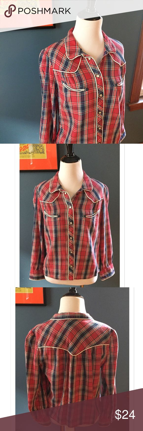 "Denim and Supply Ralph Lauren Button Down Flannel Channel your inner cowgirl with this great flannel by Demin and Supply Ralph Lauren. 100% cotton. Shoulder 15""; Bust 18""; Length 22""; Sleeve 20.5"" EUC Denim & Supply Ralph Lauren Tops Button Down Shirts"