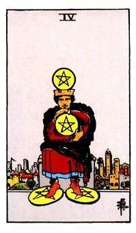 four of pentacles, daily tarot reading