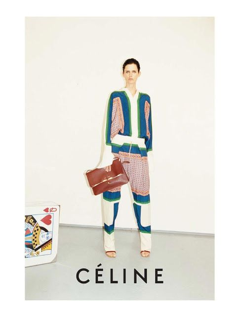 Peekabo King of Hearts - Céline ad shot by Jurgen teller