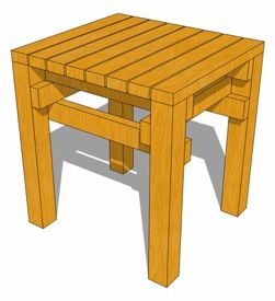 easy wood stool tutorial  sc 1 st  Pinterest : simple wooden stool plans - islam-shia.org