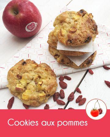 Cookies aux pommes Pink Lady® et aux baies de goji