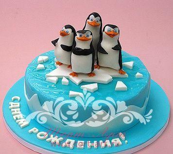 Детские торты — Детский торт с пингвинами