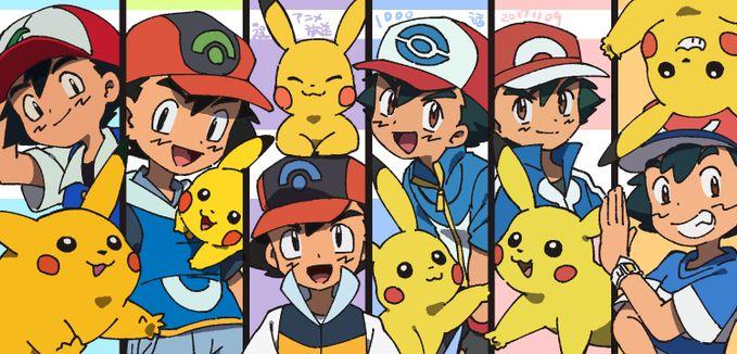 Ash and Pikachu - evolution