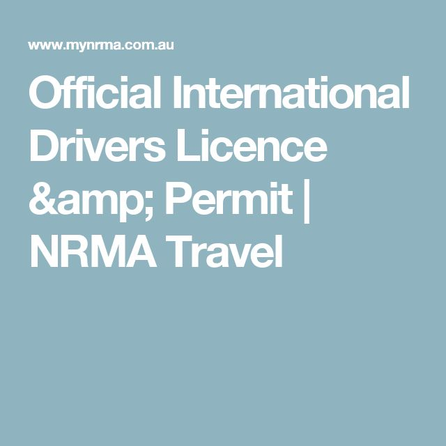 Official International Drivers Licence & Permit | NRMA Travel