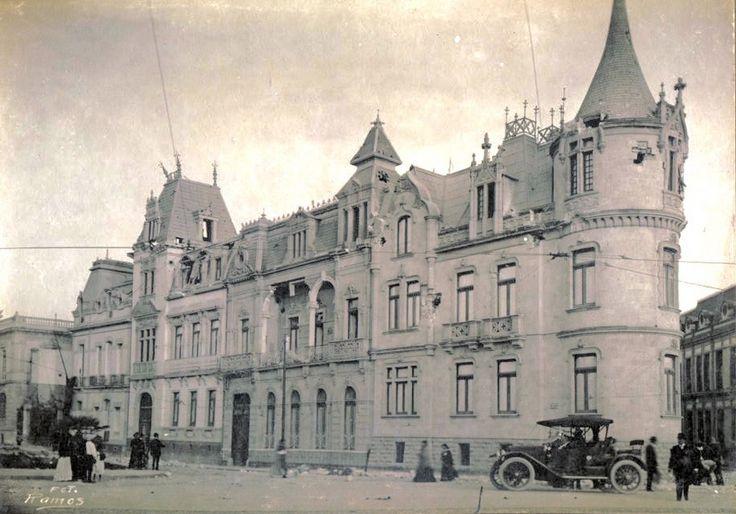 Paseo de la Reforma cuadra de Lucerna a Roma 1900. en la esquina de esta calle estaría décadas despues el Hotel Hilton continental